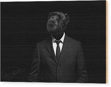The Interview Wood Print by Paul Neville