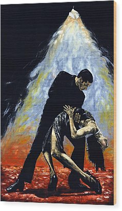 The Intoxication Of Tango Wood Print by Richard Young