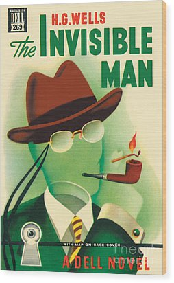 Wood Print featuring the painting The Invisible Man by Gerald Gregg