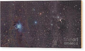The Iris Nebula In Cepheus Wood Print by John Davis