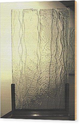 'the Iris River' Wood Print by Sarah king