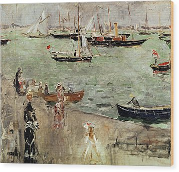 The Isle Of Wight Wood Print by Berthe Morisot