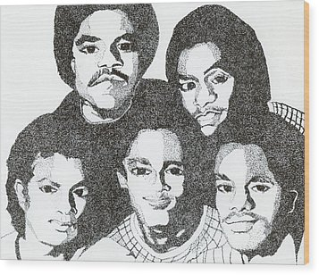 The Jacksons Tribute Wood Print
