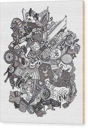 The Januszeski Three Wood Print by Tyler Auman