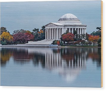The Jefferson In Baby Blue Wood Print