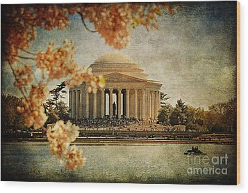 The Jefferson Memorial Wood Print by Lois Bryan
