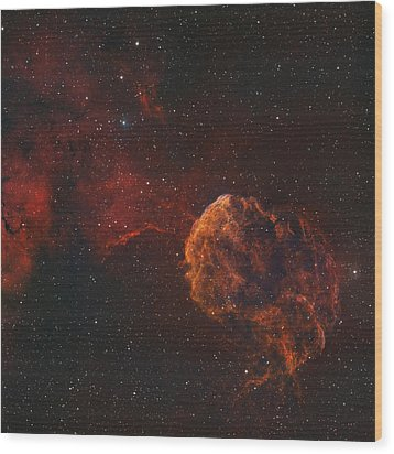 The Jellyfish Nebula Wood Print by Rolf Geissinger