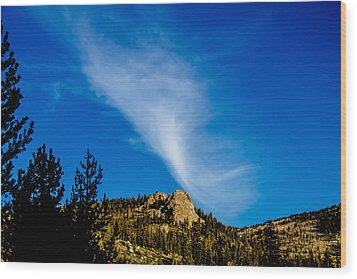 The Jet Strean Up At 10000 Ft Wood Print by Brian Williamson
