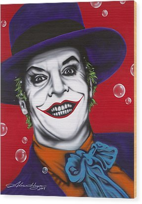 The Joker Wood Print by Alicia Hayes