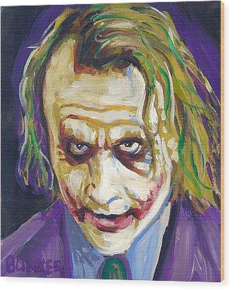 The Joker Wood Print by Buffalo Bonker