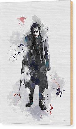 The Joker Wood Print by Marlene Watson