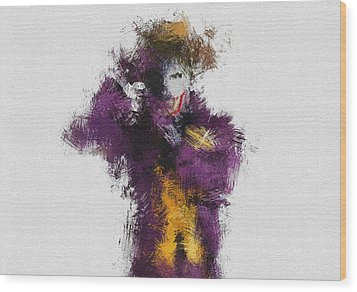 The Joker Wood Print by Miranda Sether