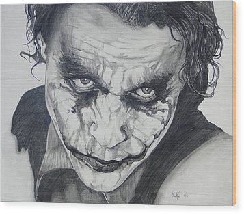 The Joker Wood Print by Stephen Sookoo