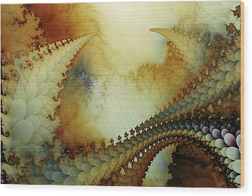 Wood Print featuring the digital art The Journey by Kim Redd