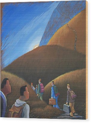 The Journey Men Wood Print by Marjorie Hause
