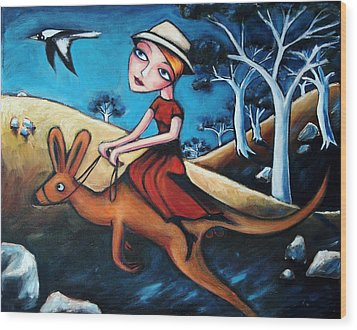 The Journey Woman Wood Print