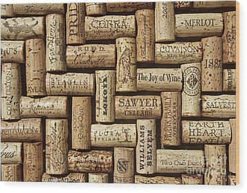 The Joy Of Wines Wood Print by Anthony Jones