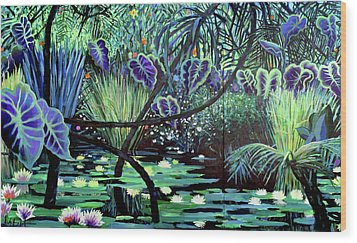 The Jungle Wood Print by Geoff Greene