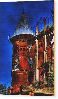 The Junk Castle Wood Print by David Patterson