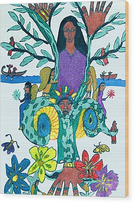 The Kakno Place Of Fantasy Wood Print by Betty  Roberts