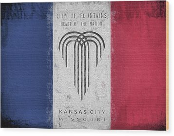 Wood Print featuring the digital art The Kansas City Flag by JC Findley
