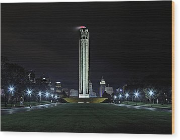 Wood Print featuring the photograph The Kansas City Liberty Memorial by JC Findley