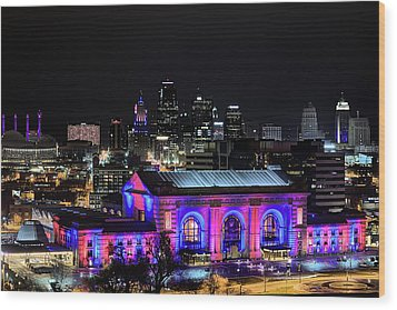 Wood Print featuring the photograph The Kansas City Skyline by JC Findley