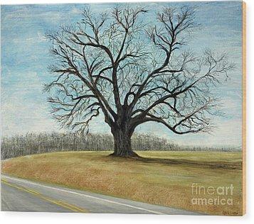 The Keeler Oak Wood Print