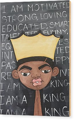 The King Wood Print