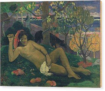 The Kings Wife Wood Print by Paul Gauguin