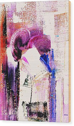The Kiss Wood Print by VIVA Anderson