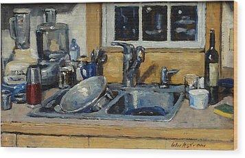 The Kitchen Sink Wood Print