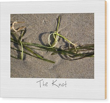 The Knot Wood Print by Peter Tellone