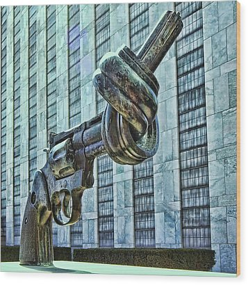 The Knotted Gun Wood Print