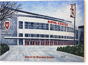 The Kohl Center Wood Print by Thomas Kuchenbecker