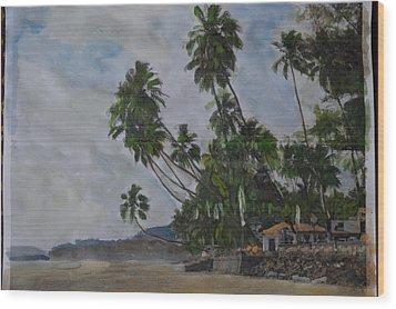 The Konkan Coastline Wood Print