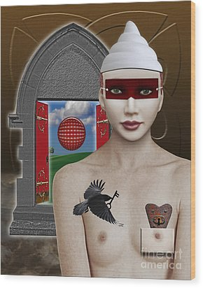 The Lady In Waiting Wood Print by Keith Dillon