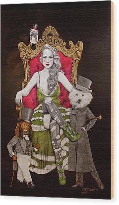 The Lady Of Erstwhile And The Royal Guard Wood Print by TP Dunn