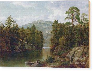 The Lake George Wood Print