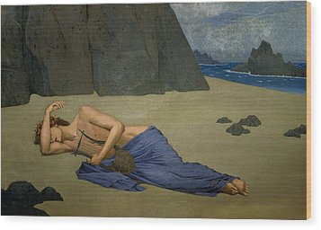 The Lamentation Of Orpheus Wood Print by Alexandre Seon