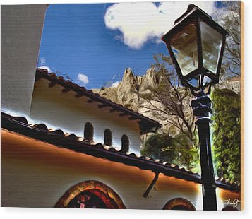 The Lamp Post Wood Print by Francisco Colon