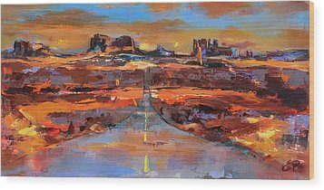 The Land Of Rock Towers Wood Print
