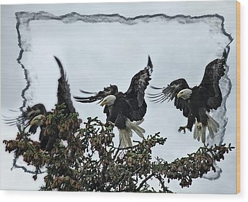 The Landing Wood Print