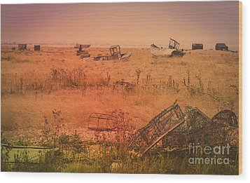 The Landscape Of Dungeness Beach, England 2 Wood Print