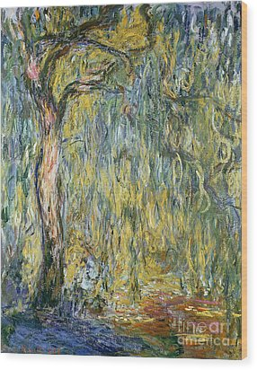 The Large Willow At Giverny Wood Print by Claude Monet
