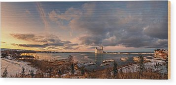 The Last Ice On The Bay Wood Print by Jeff S PhotoArt