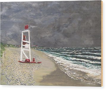 The Last Lifeguard Wood Print by Jack Skinner