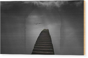 Wood Print featuring the photograph The Last Steps by Keith Elliott