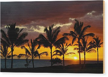 The Last Sunset Wood Print by James Walsh