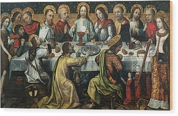 The Last Supper Wood Print by Godefroy